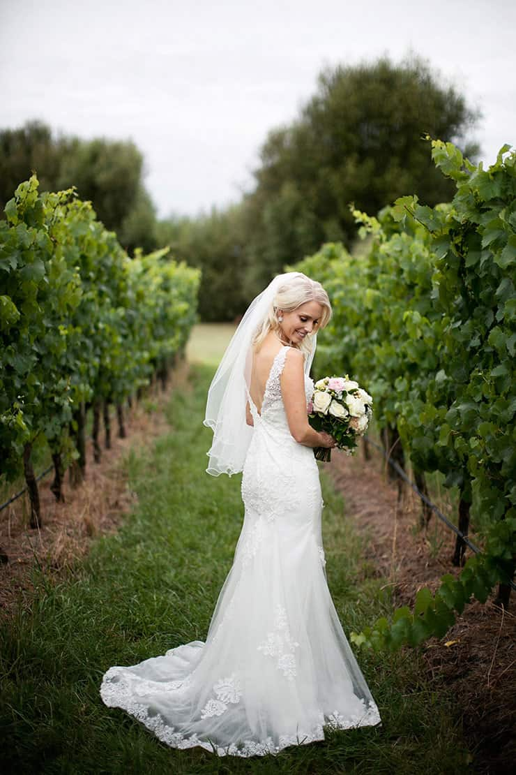 A pretty winery wedding the wedding playbook for Vineyard wedding dresses for guests