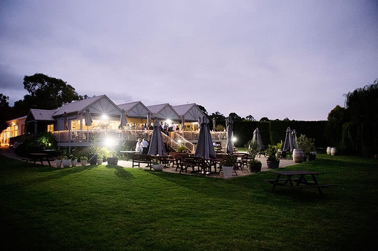 Pretty winery wedding reception venue
