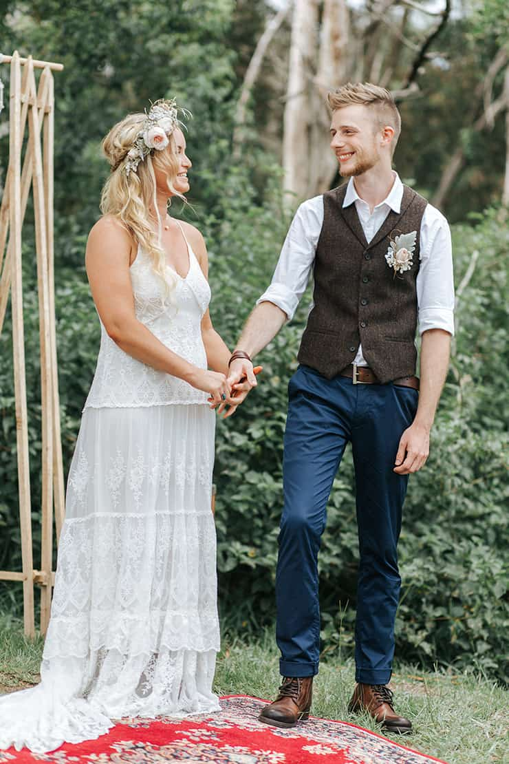 A Relaxed Boho Wedding In A Charming Country Hall The