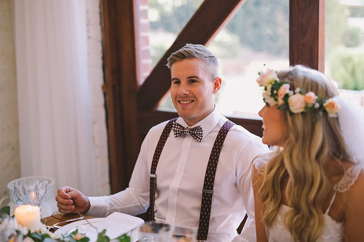 Relaxed-Vintage-Boho-Wedding-Inspiration-Reception-Bride-Groom
