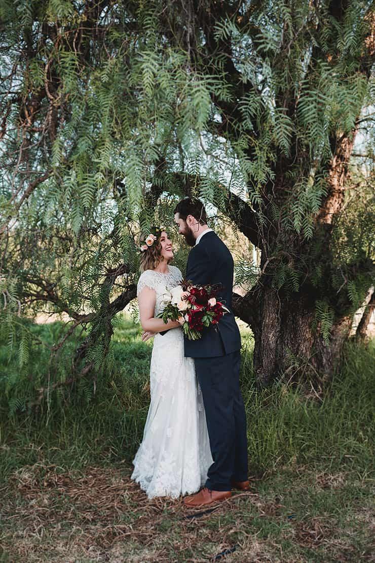 Rich-Berry-and-Navy-Rustic-Wedding-Bride-Groom-Portrait-6