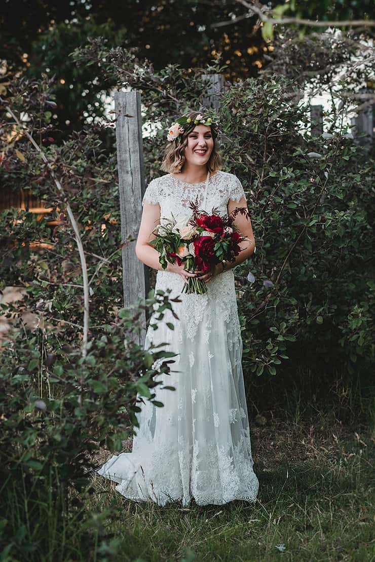 Rich-Berry-and-Navy-Rustic-Wedding-Bride-Portrait