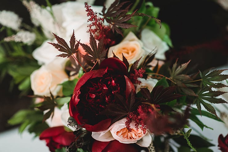 Rich-Berry-and-Navy-Rustic-Wedding-Flowers
