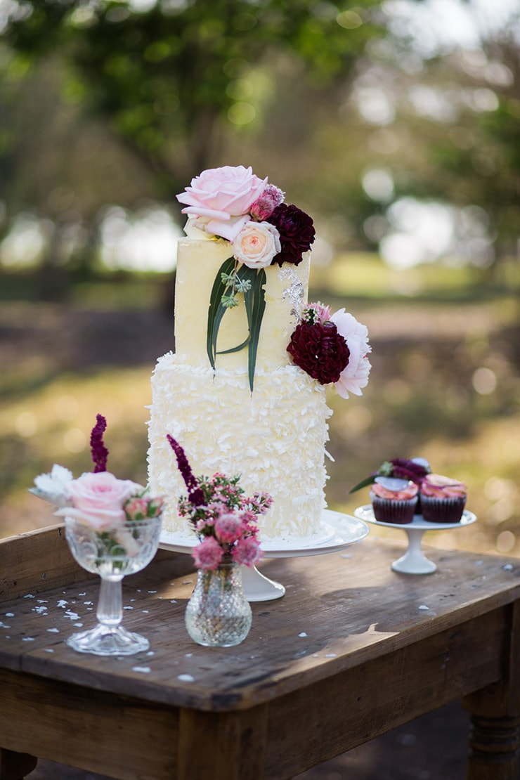 Romantic Berries and Cream Wedding Inspiration | This is Life Photography
