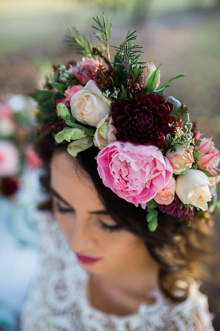 Romantic Berries and Cream Wedding Inspiration |This is Life Photography
