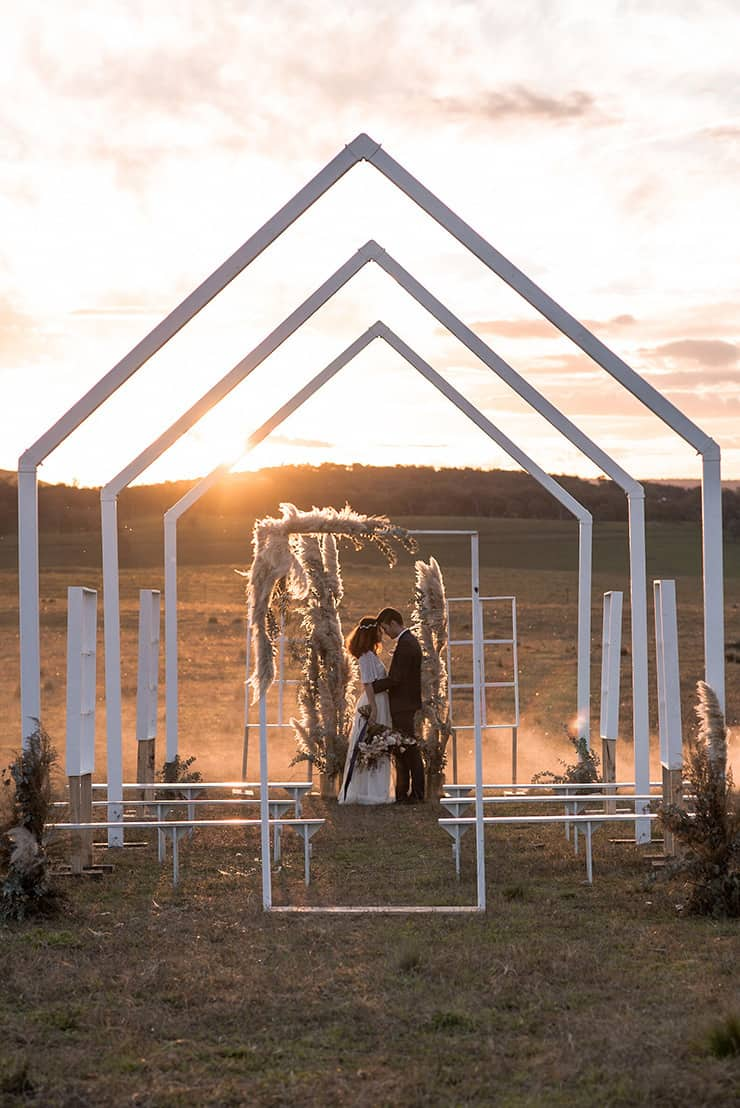 Romantic Country Wedding Inspiration with an Open Air Chapel | Michael Boyle Photography