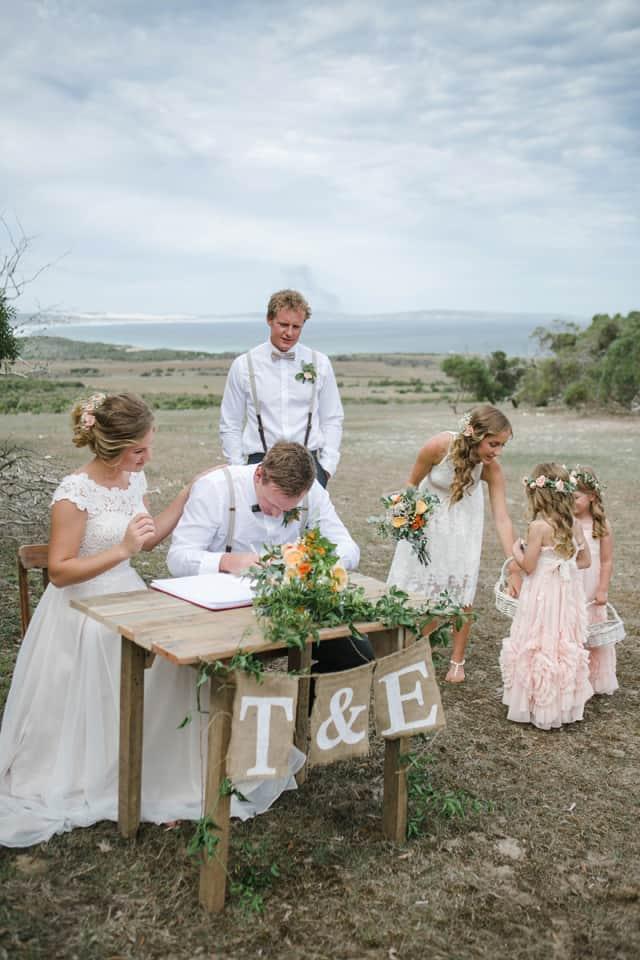 A Romantic DIY Beach Wedding