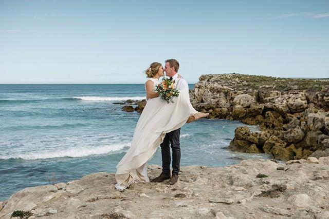 Elise & Tyson's Romantic DIY Beach Wedding