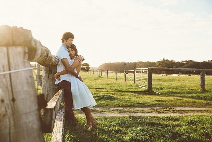 Romantic Farm Engagement Shoot