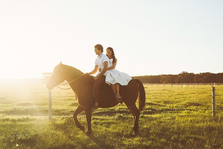 Romantic Farm Engagement Shoot