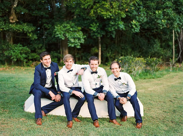 Romantic-Gold-&-Pink-Vintage-Wedding-Groom-Navy-Suit-Groomsmen