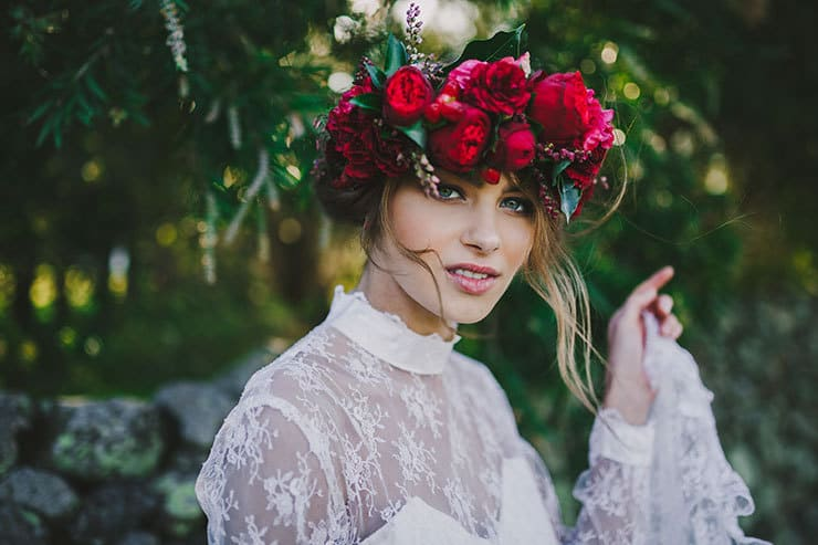 Romantic red floral wedding inspiration