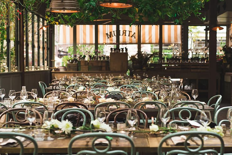 A Romantic Restaurant Wedding in Ivory, Pink and Bronze | Angela Rose Photography