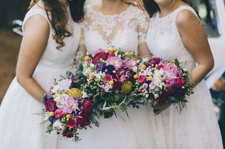 Bright and modern wedding bouquets