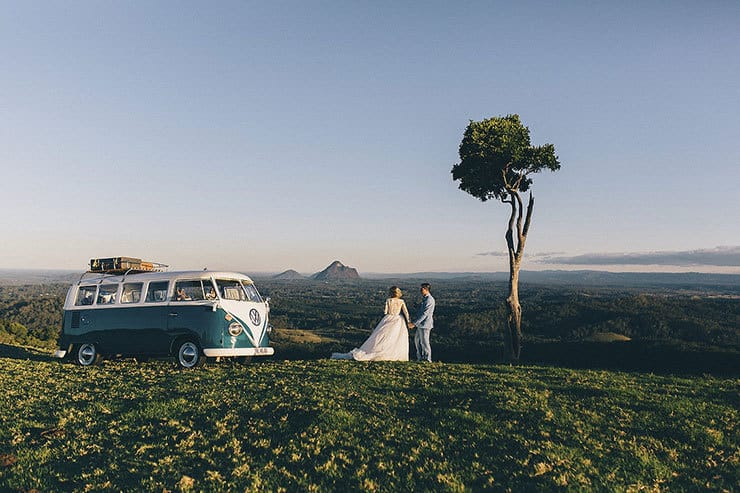 Romantic vintage hinterland wedding