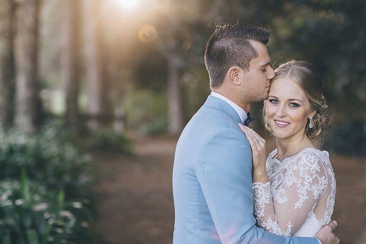 Elegant bride and groom portrait