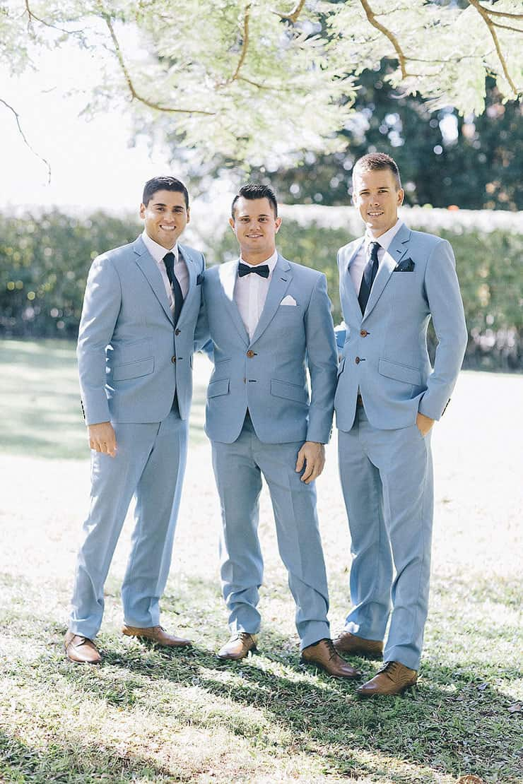 Romantic-Vintage-Hinterland-Wedding-Groom-Groomsmen-Light-Blue-Suits ...