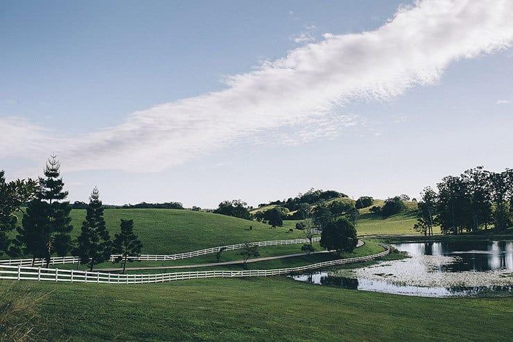 Romantic vintage hinterland wedding venue