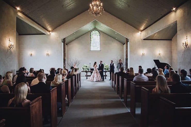 Romantic-Woodland-Wedding-Church-Ceremony-Bride-Groom-Vows