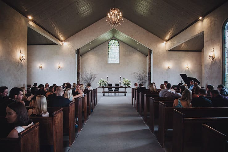 Romantic-Woodland-Wedding-Church-Ceremony-Interior
