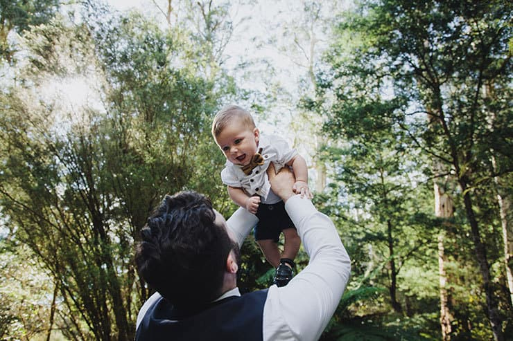 Romantic-Woodland-Wedding-Groom-Son
