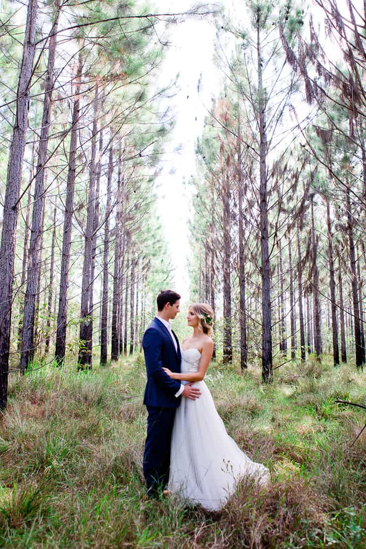 Romantic woodland wedding backdrop