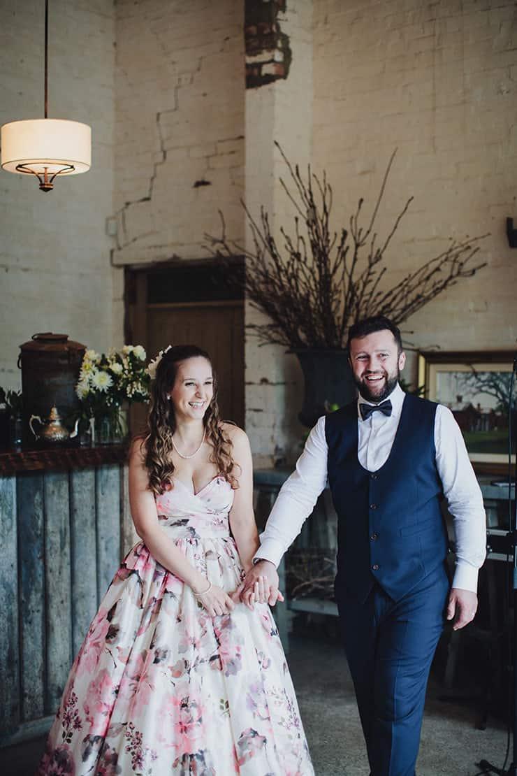Romantic-Woodland-Wedding-Reception-Bride-Groom-Entrance