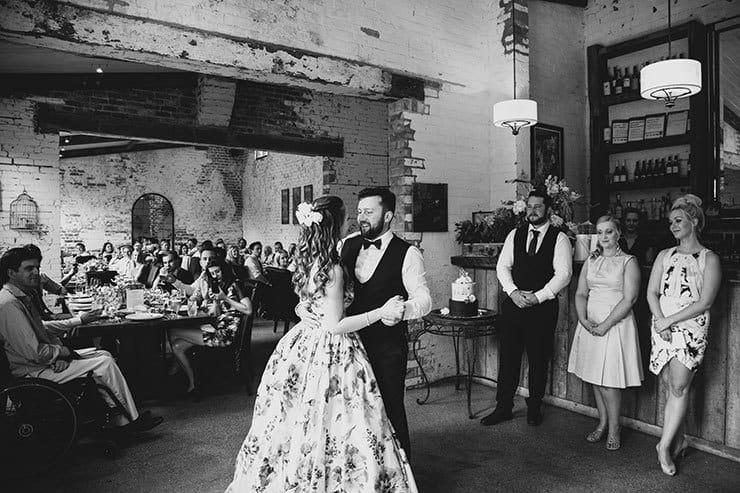Romantic-Woodland-Wedding-Reception-Bride-Groom-First-Dance