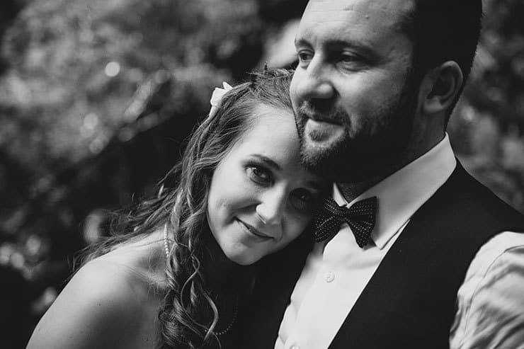 Romantic-Woodland-Wedding-Reception-Bride-Groom-Portrait