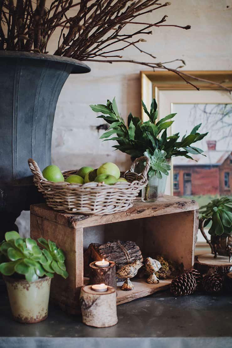 Romantic-Woodland-Wedding-Reception-Venue-Styling-Rustic-Decor