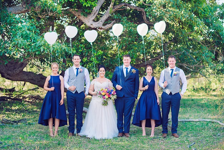 A Royal Blue Country Wedding With Colourful Blooms The