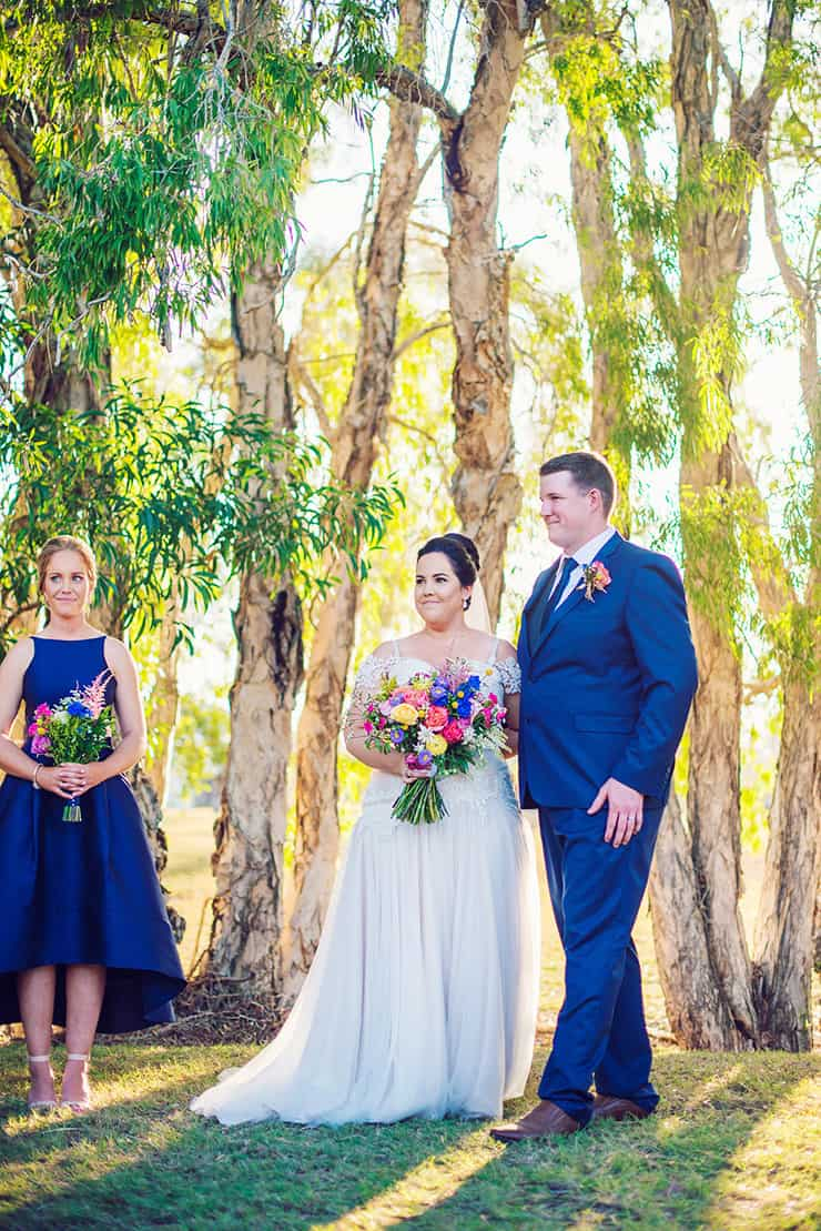 A Royal Blue Country Wedding with Colourful Blooms | Madelyn Holmes Photographics