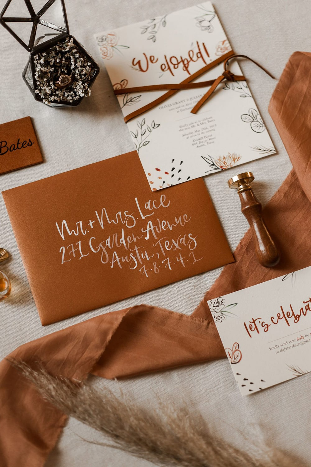 """Boho Rust & White Wedding Ideas 