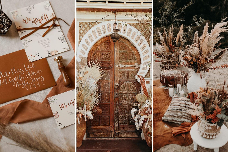Boho Rust & White Wedding Ideas