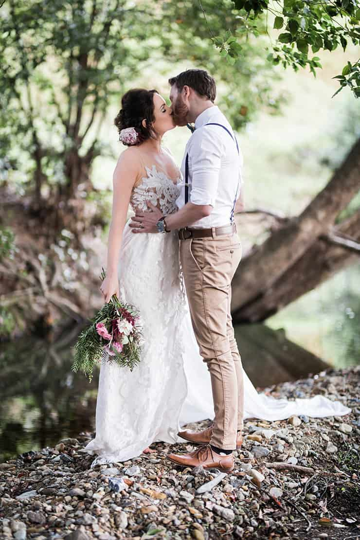 Rustic Boho Wedding Inspiration in Blush and Olive | Katrina Cram Photography