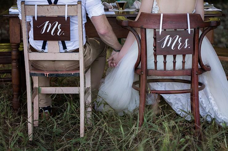 Rustic Boho Wedding Inspiration in Blush and Olive  Katrina Cram Photography