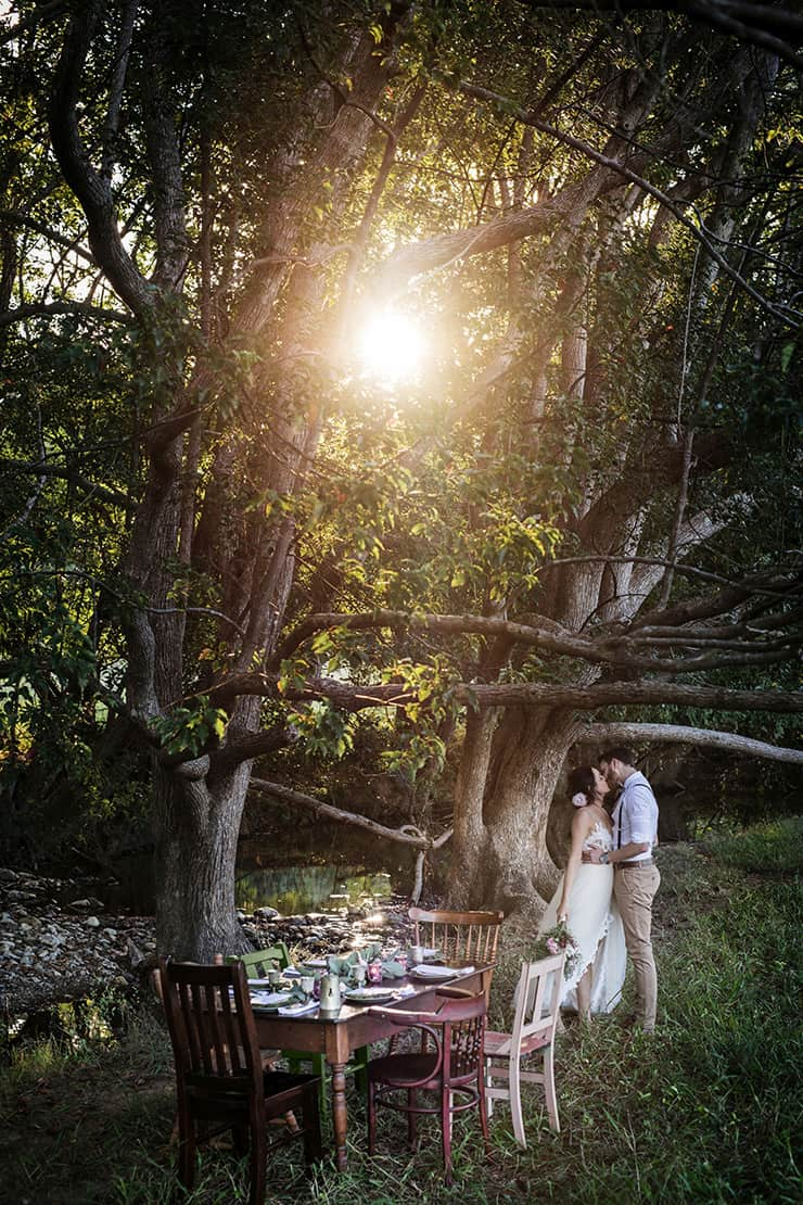Rustic Boho Wedding Inspiration In Blush And Olive The