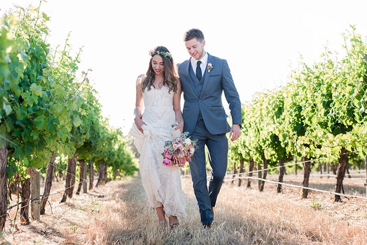 Rustic Boho Winery Wedding | Trish Woodford Photography