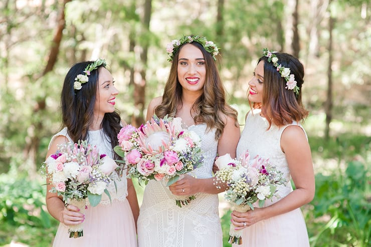 Rachael & Jacob's Rustic Boho Winery Wedding with Pastel Pink Blooms
