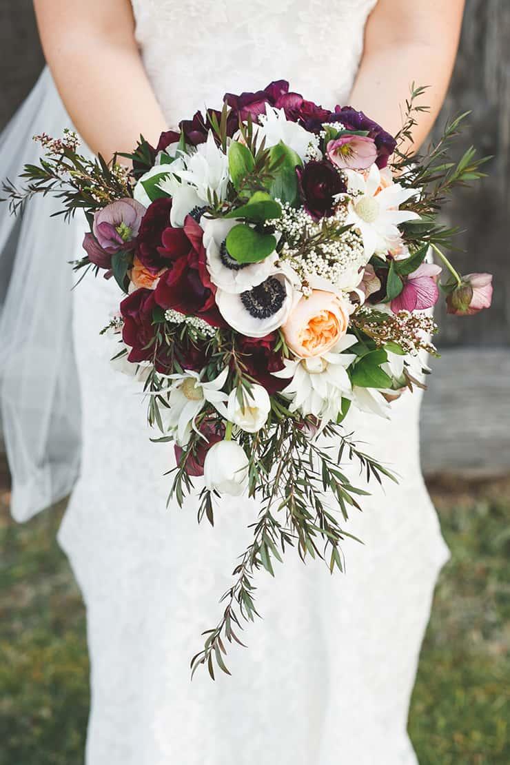 Rustic-Burgundy-Country-Wedding-Bride-Bouquet-Flowers - The Wedding ...