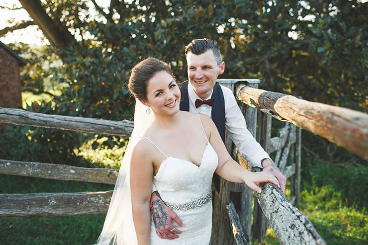 Rustic-Burgundy-Country-Wedding-Bride-Groom-Portrait-3