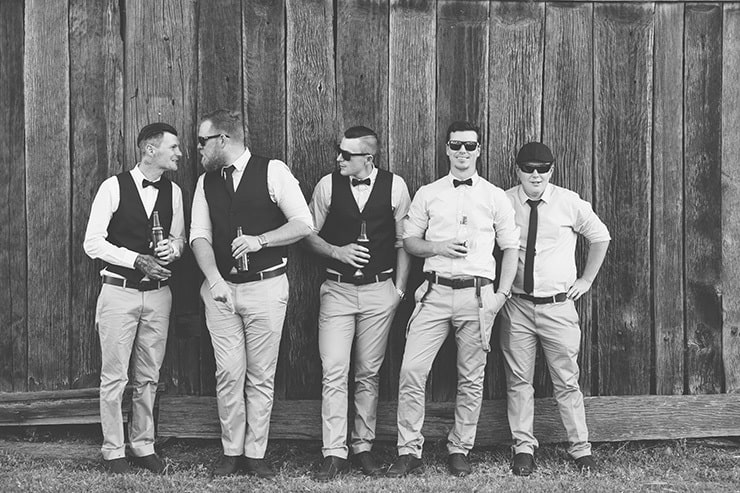 Rustic-Burgundy-Country-Wedding-Groom-Groomsmen