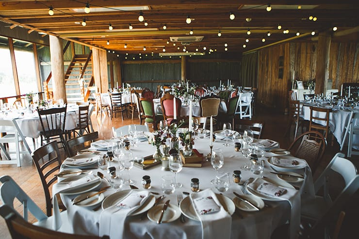 Rustic-Burgundy-Country-Wedding-Reception-Space