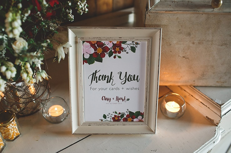Rustic-Burgundy-Country-Wedding-Reception-Styling-Thank-You-Sign