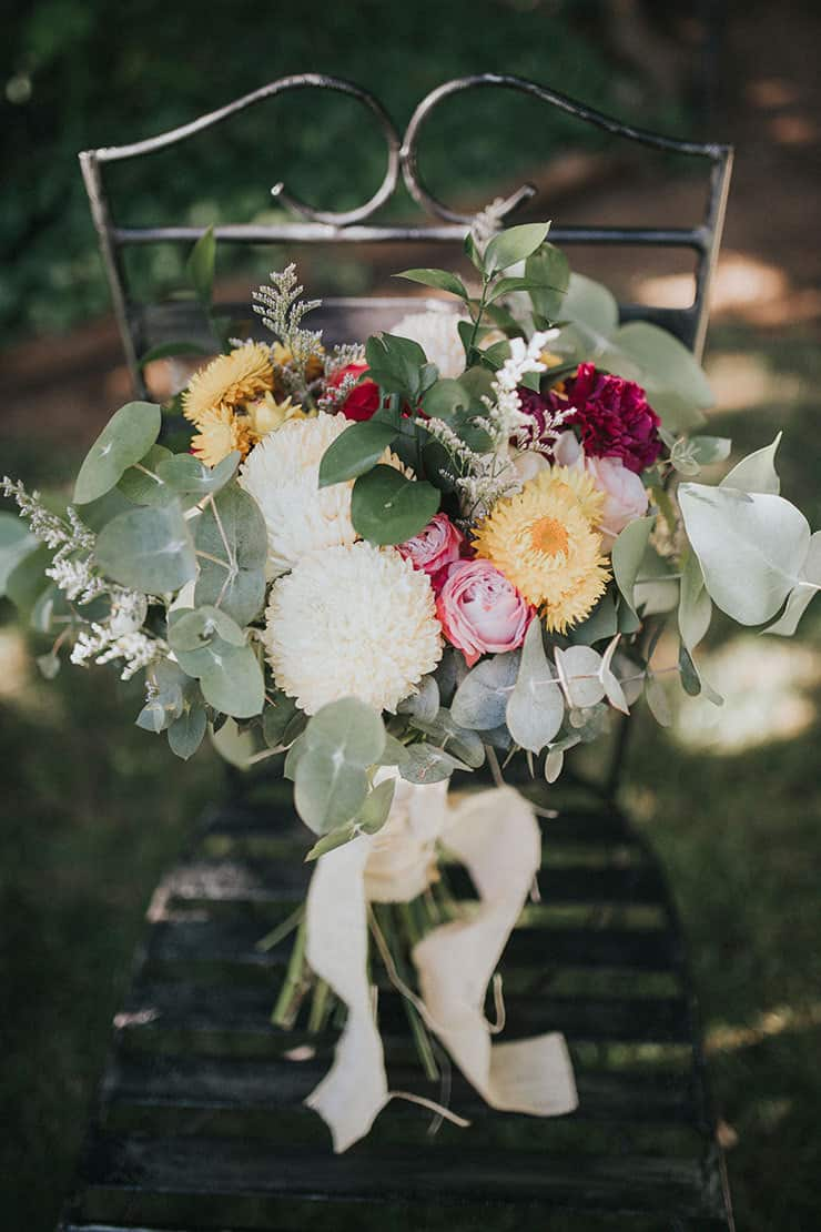 Rustic Floral Wedding Inspiration With Copper Highlights