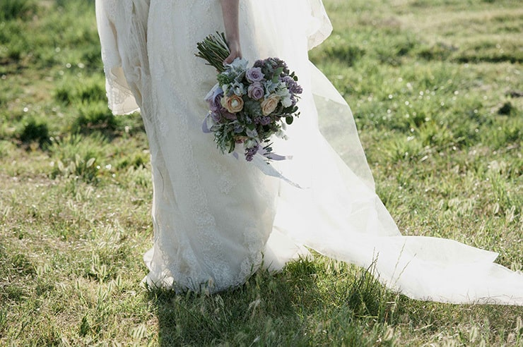 Rustic Lavender Winery Wedding