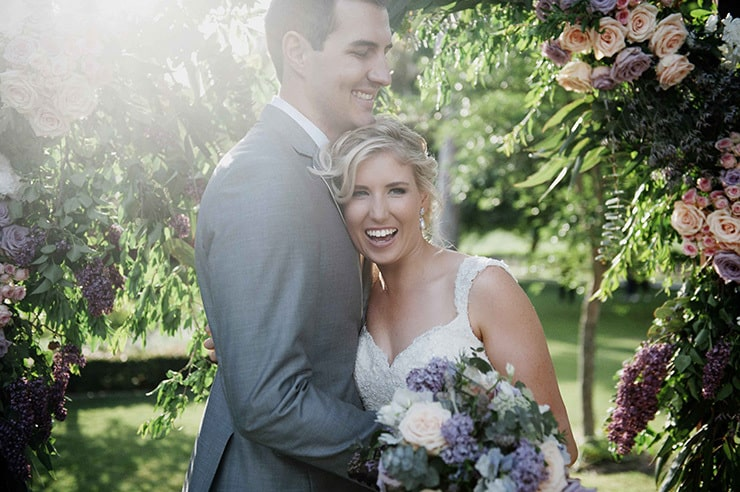 Laura & Rob's Rustic Lavender Winery Wedding