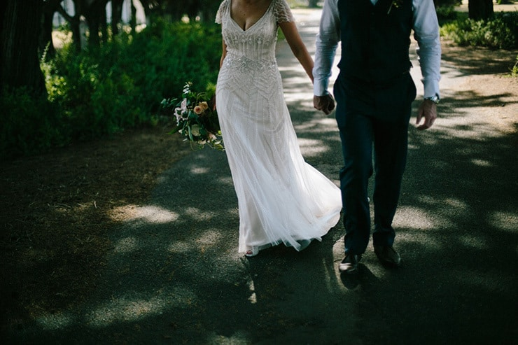 Rustic-Meets-Gatsby-Wedding-Bride-Groom-Walk-3