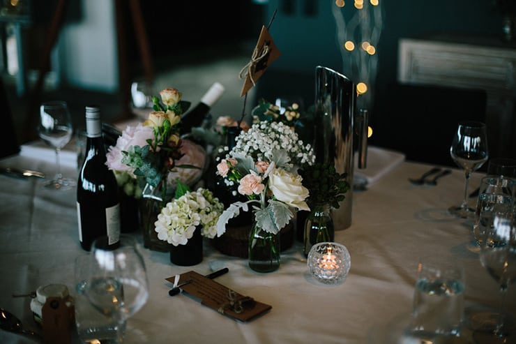 Rustic Meets Gatsby Wedding Reception Table Decor