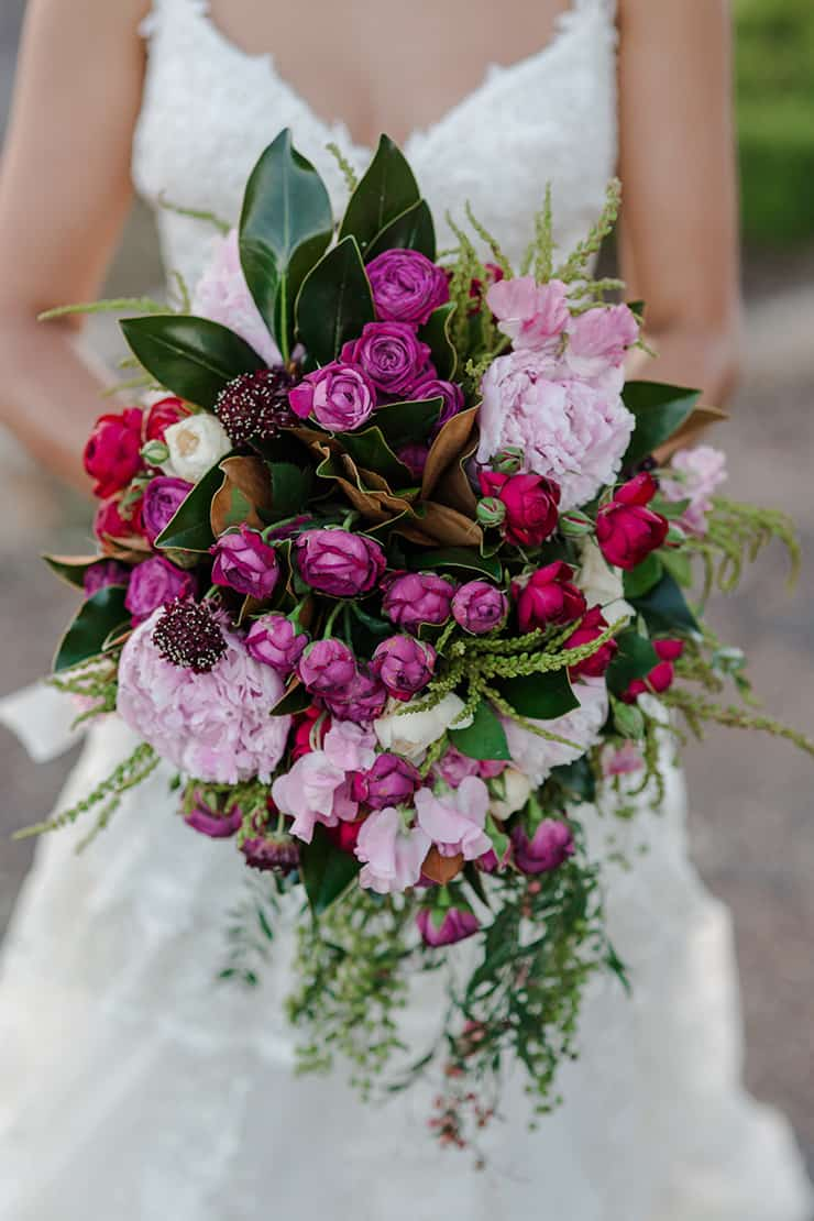 Rustic Outdoor Wedding in Berry Hues